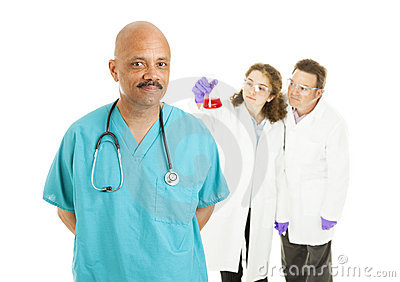Surgeon and Lab Techs