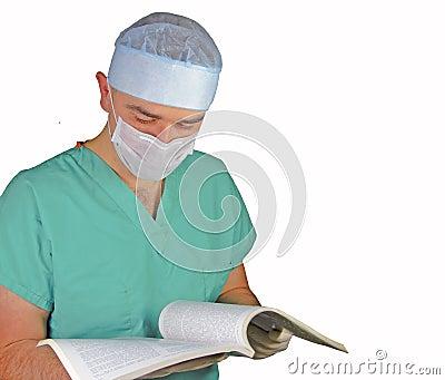 Surgeon reading