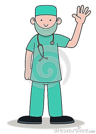 Surgeon Waving