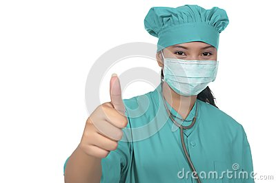 Surgeon Wearing Scrub
