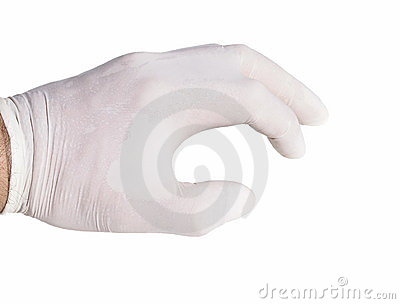 Surgical gloves on isolated white