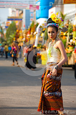 Surin Parade Traditional Dress Fair Female Editorial Stock Photo