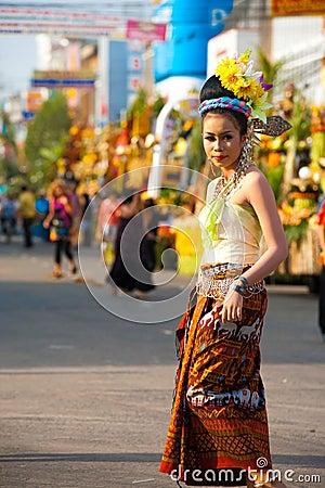 Surin Parade Traditional Dress Fair Female Editorial Stock Photo