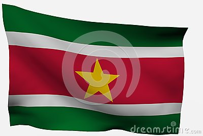 Surinam 3d flag