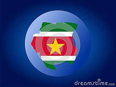 Suriname globe