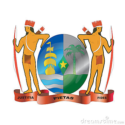Suriname native coat of arms