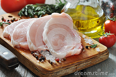 Surowy wieprzowiny mięso