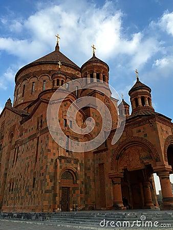 Surp Hovhannes Church Of Abovyan, Armenia Stock Photo ...
