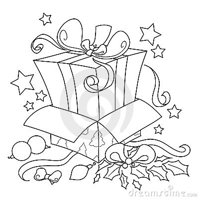 Surprise gift for Christmas vector