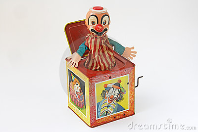 Surprise Music Box Toy Royalty Free Stock Photography - Image ...