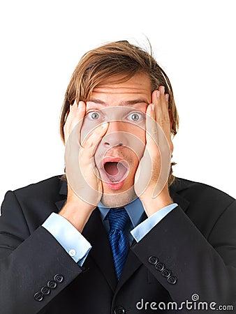 Surprise - A very surprised man