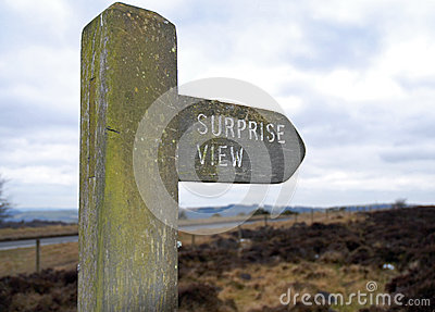 Surprise View Sign post, Derbyshire Peak District