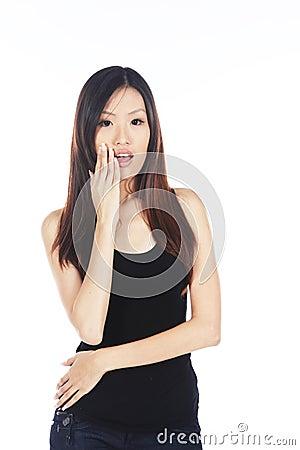 Free Surprised Asian Woman Royalty Free Stock Image - 32740916