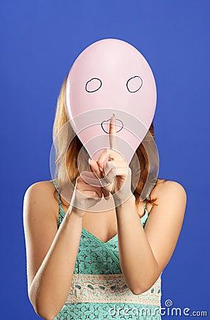 Surprised balloon making shhhhh