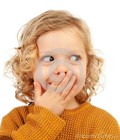 Free Surprised Blond Child With Blue Eyes Royalty Free Stock Images - 109311389