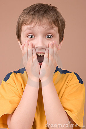 Free Surprised Boy Portrait Stock Photography - 2532742
