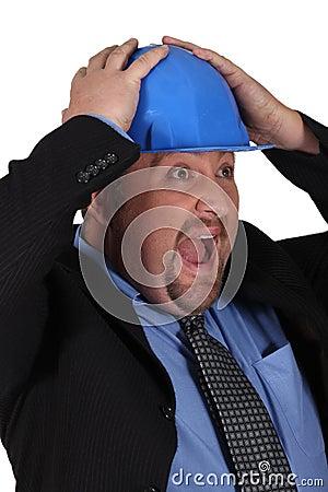 A surprised businessman