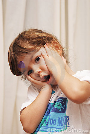Free Surprised Child Royalty Free Stock Image - 3876376