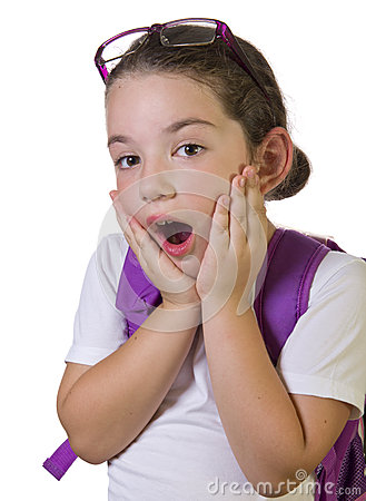 Free Surprised Child With Hands On Cheeks Stock Photos - 32050463