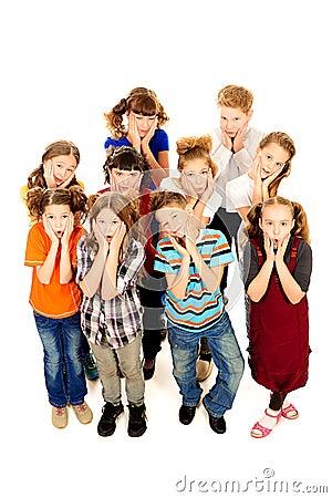Surprised children