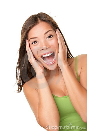 Free Surprised Excited Woman Stock Photography - 18833272