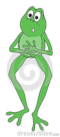 Surprised frog