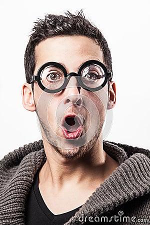Surprised geek