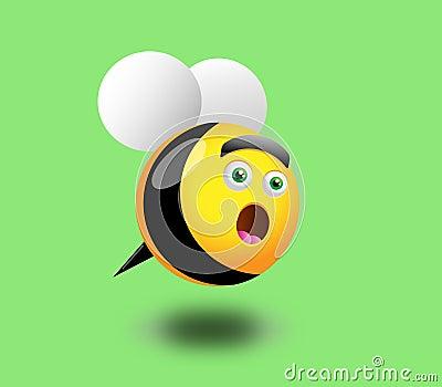 Surprised Honey Bee