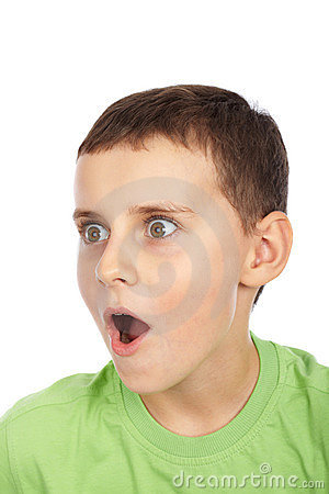 Surprised kid