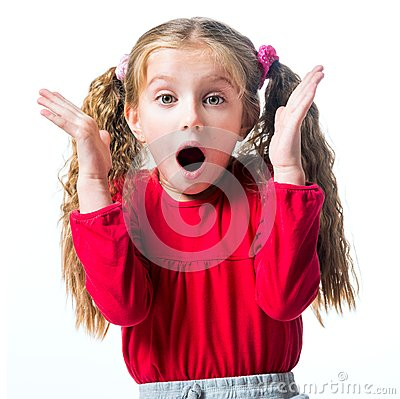 Free Surprised Little Girl Stock Photo - 35103480