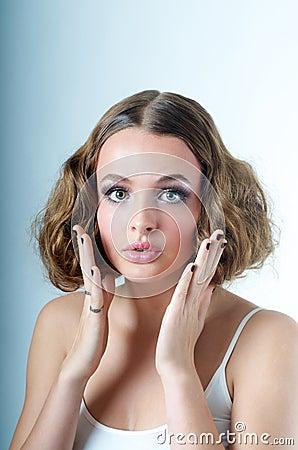 Surprised oops Model look