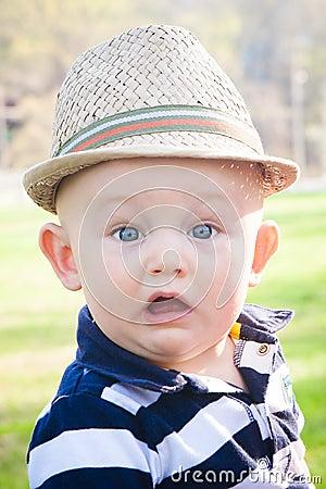 Surprised Preppy Baby Boy
