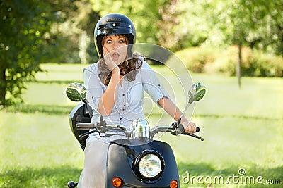 Surprised rider