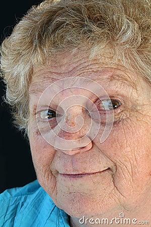 Surprised senior Lady