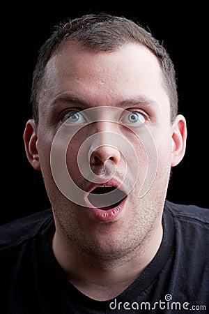 Surprised Shocked Man