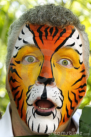 Surprised Tiger Man