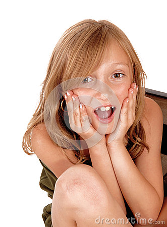 Free Surprised Young Girl. Stock Photos - 44504753