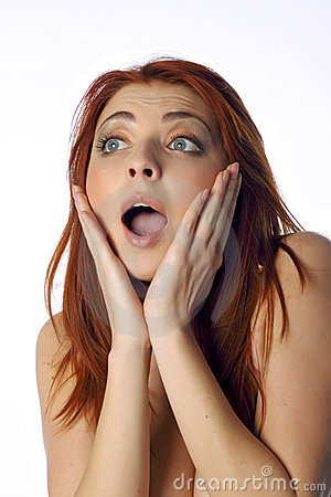 The surprised young woman
