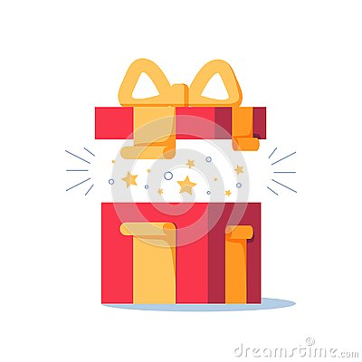 Free Surprising Gift, Opened Present Box, Unusual Experience, Special Celebration, Birthday Party, Royalty Free Stock Image - 102152006