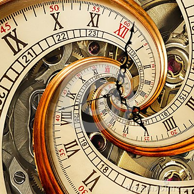 Free Surreal Antique Old Clock Abstract Fractal Spiral. Watch Clocks With Mechanism Unusual Abstract Texture Fractal Pattern Background Royalty Free Stock Image - 106723556