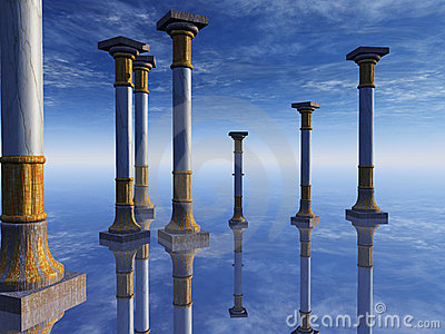 Surreal Columns on Horizon