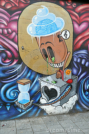 Free Surreal Graffiti Stock Photography - 16783482