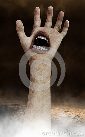 Free Surreal Halloween Hand Wallpaper Background Royalty Free Stock Photography - 103281027