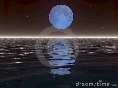 Surreal Moon and Water