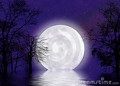 Surreal moonscape