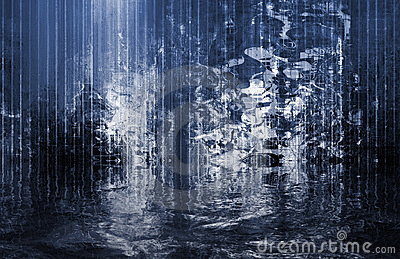 Surreal Soothing Abstract Waterfall View Royalty Free Stock Image - Image: 8459566