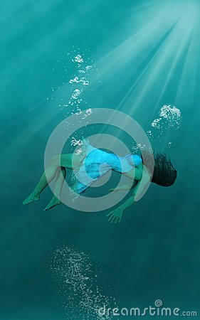Free Surreal Underwater Woman, Wallpaper Background Royalty Free Stock Photos - 103439768