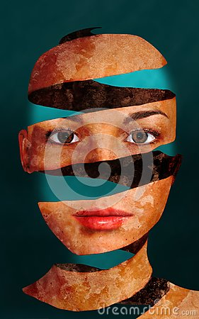 Free Surreal Woman Face Wallpaper Background Royalty Free Stock Photo - 103747855