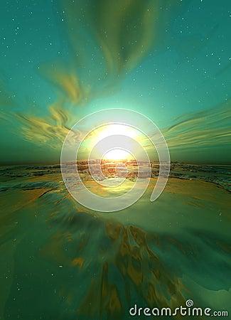 Surrealistyczne wschód słońca