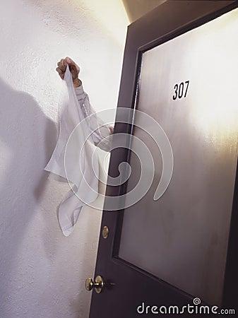 surrender flag at door